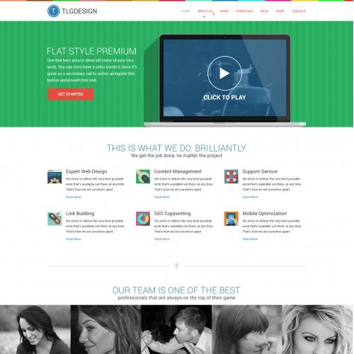 Flat website Design Mockup