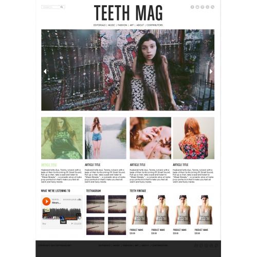 TEETH MAG website comp